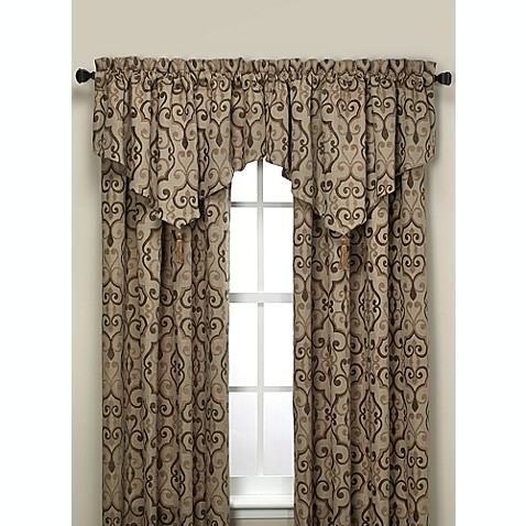 Torino 120-Inch Rod Pocket Panel in Brown/Taupe