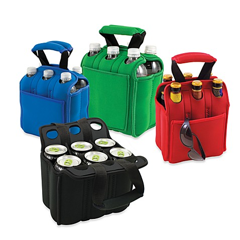Picnic Time® Six Pack Insulated Beverage Carrier - Green