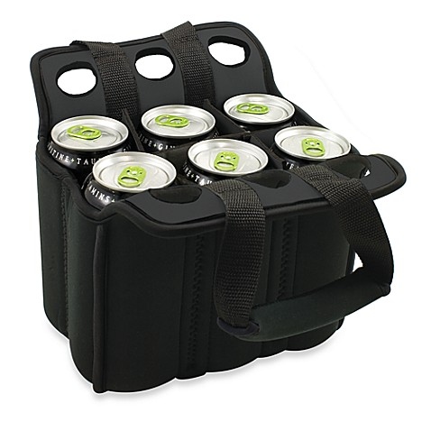 Picnic Time® Six Pack Insulated Beverage Carrier in Black