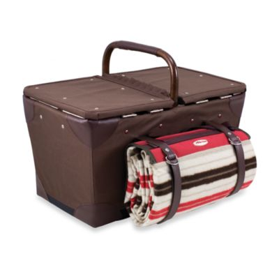 Picnic Time® Pioneer Picnic Basket in Moka