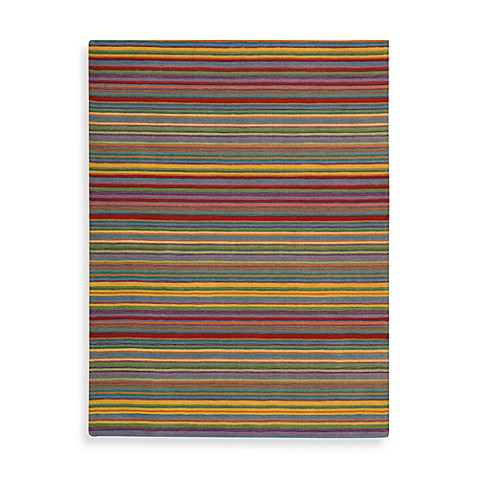Nourison Skyland 7-Foot 6-Inch x 9-Foot 6-Inch Room Rug in Multi Stripe