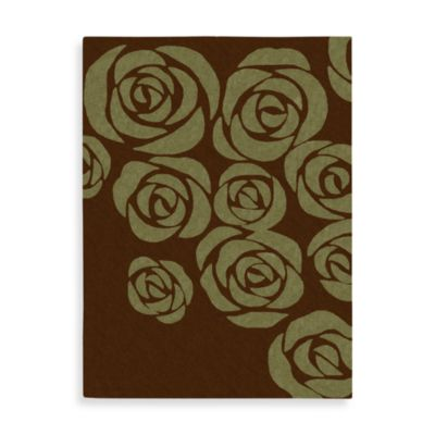 Nourison Skyland Brown and Green Rug