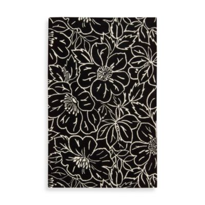 Nourison Skyland 3-Foot 6-Inch x 5-Foot 6-Inch Area Rug in Black and Ivory