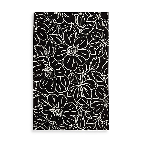Nourison Skyland 5-Foot 6-Inch x 7-Foot 5-Inch Room Size Rug in Black and Ivory