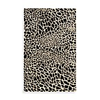 Nourison Skyland Cheetah Accent Rugs in Black/Ivory