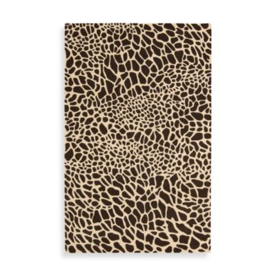 Brown Giraffe Rug