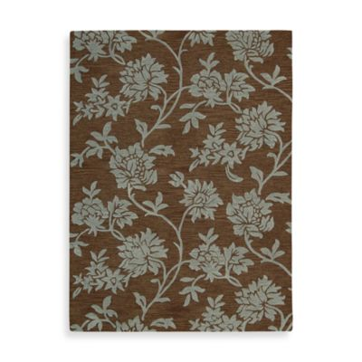 Nourison Skyland Rug in Chocolate/Blue