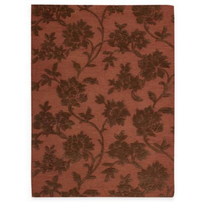 Nourison 5' 6 Brown Red Area Rug