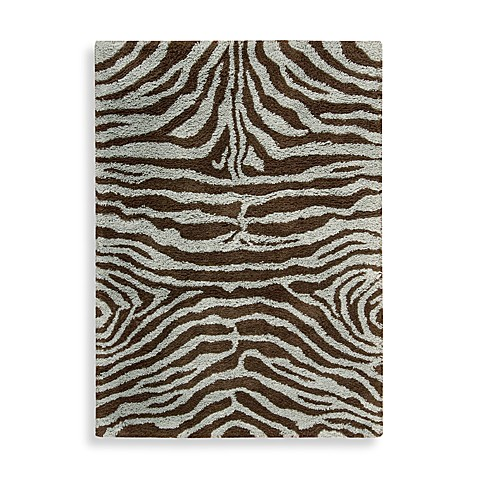 Nourison Splendor Rug in Aqua/Brown