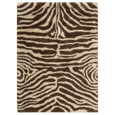 Nourison Splendor 5-Foot x 7-Foot Room Size Rug in Ivory and Brown