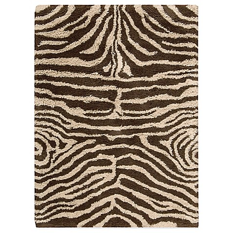 Nourison Splendor Ivory and Brown 7-Foot 6-Inch x 9-Foot 6-Inch Room Size Rug