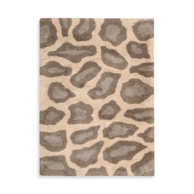 Nourison Splendor 5-Foot x 7-Foot Room Rug in Beige Leopard Print