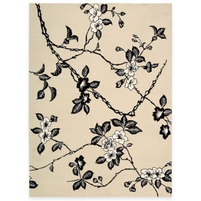 5 6 Black White Room Rug