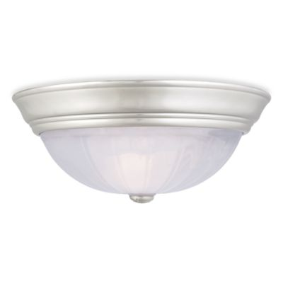 Quoizel® Alabaster Melon Large Flush Mount Light