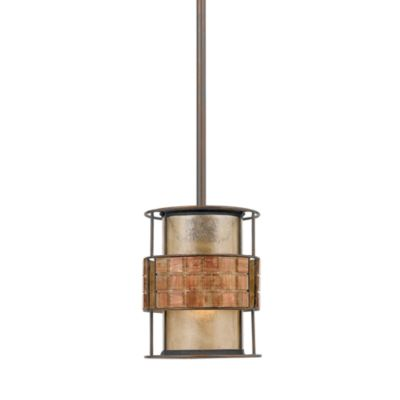 Quoizel® Mica Rod Hung Mini Pendant Light