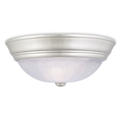 Quoize® l Alabaster Melon Medium Flush Mount Light