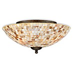 Quoizel Monterey Mosaic Medium Floating Flush Mount Light Fixture