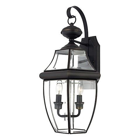 Quoizel®  Newbury Large Wall Lantern in Bronze