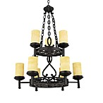 Quoizel La Parra 9-Light Two Tier Chandelier