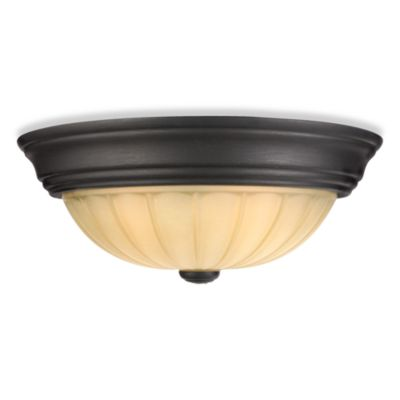 Quoizel® Tradewinds 2-Light Flush Mount in Espresso