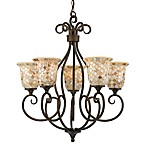 Quoizel®  Monterey Mosaic 5-Light Chandelier
