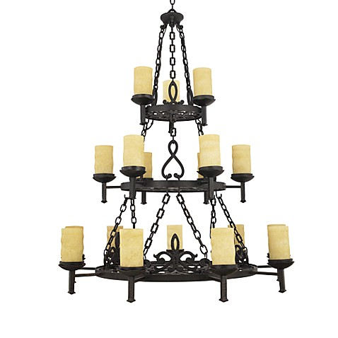 Quoizel La Parra Three Tier Chandelier With 18 Lights