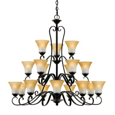 Quoizel® 18-Lights Duchess Three Tier Chandelier