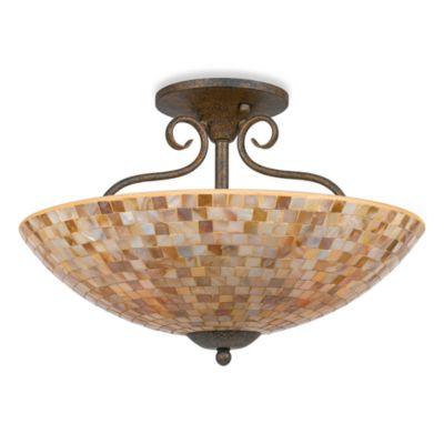 Quoizel® Monterey Mosaic Large Semi Flush Mount Fixture
