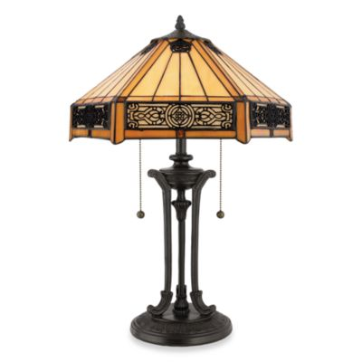 Quoizel Indus Tiffany Style Table Lamp