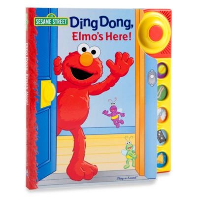 Books > Sesame Street®  Ding Dong in Elmo's Here! Play-a-Sound Book