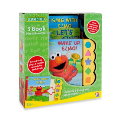 The Character Shop > Sesame Street®  Elmo Play-a-Sound 3-Book Set