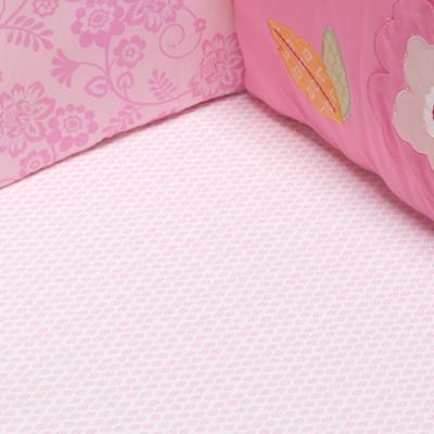 kidsline™ Miss Monkey Fitted Crib Sheet, 100% Cotton