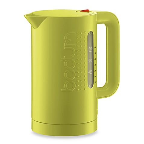 bodum bistro electric water kettle in green bed bath beyond. Black Bedroom Furniture Sets. Home Design Ideas