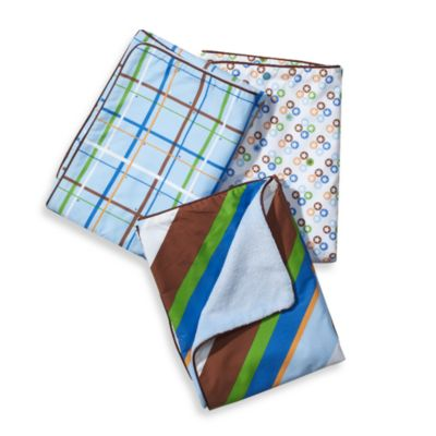 Caden Lane® Boy Blanket with Piped Edging