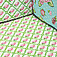 Caden Lane® Rose Lattice Fitted Crib Sheet in Pink/Green
