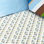Caden Lane® Dotted Star Fitted Crib Sheet in Blue Dot