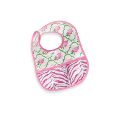Caden Lane® Reversible Coated Bib in Rose Lattice
