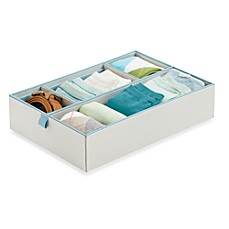 Real Simple 4-Compartment Adjustable Drawer Organizer