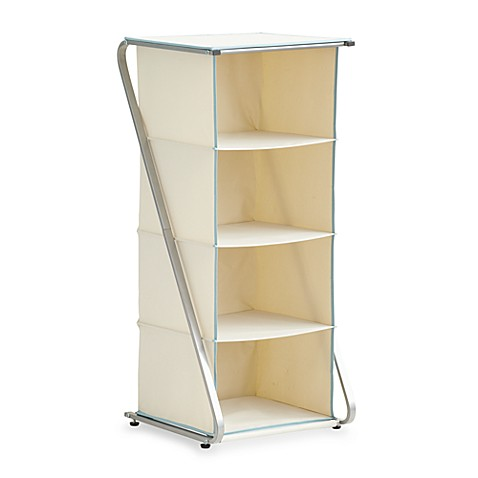 real simple free standing 4 cubby closet organizer bed