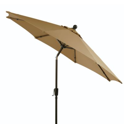 9-Foot Round Aluminum Umbrella in Tan