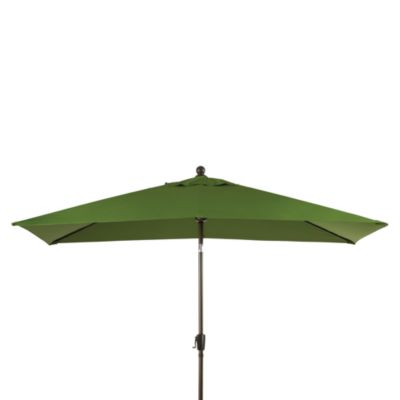 11.5-Foot Rectangular Aluminum Umbrella in Fern