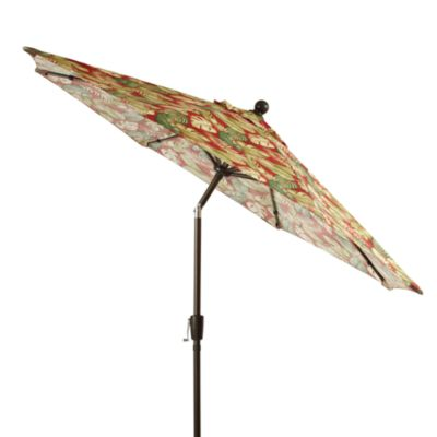 Aluminum 9-Foot Round Umbrella in Saratoga Palm