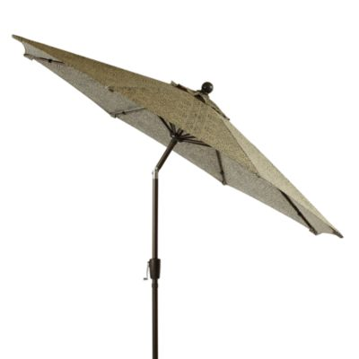 Aluminum 9-Foot Round Umbrella in Bali Tile