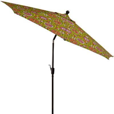 9-Foot Round Aluminum Umbrella in Suzanna Vines