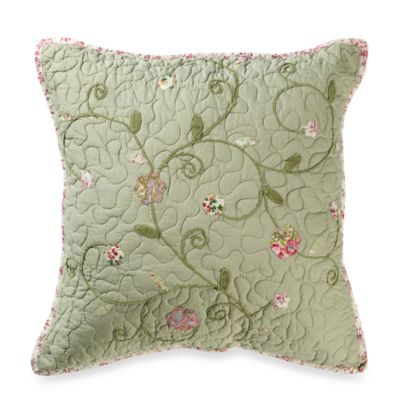 Victorian Crochet 18-Inch Square Throw Pillow
