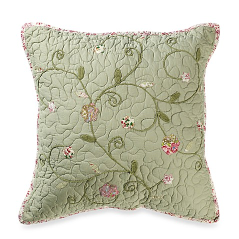Victorian Heart Throw Pillows : Victorian Crochet 18-Inch Square Throw Pillow - Bed Bath & Beyond