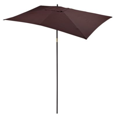 9 1/2-Foot Rectangular Wood Umbrella in Chocolate