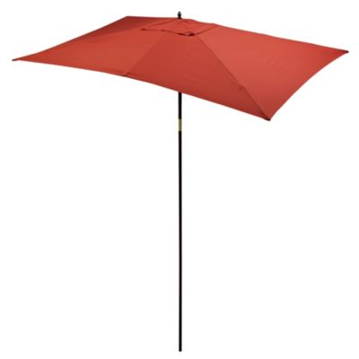 9 1/2-Foot Rectangular Wood Umbrella in Salsa