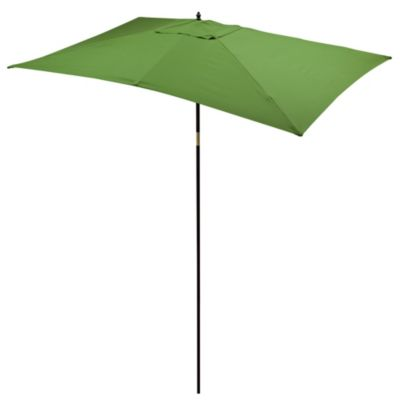 9.5-Foot Rectangular Hardwood Umbrella in Olive