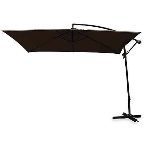 Rectangular Offset Umbrella in Chocolate